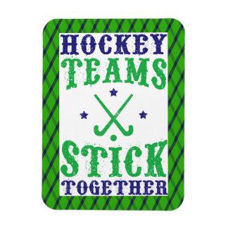 Palillo de los equipos de hockey hierba junto imán