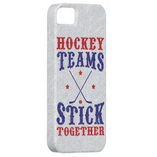 Palillo de los equipos de hockey junto funda para iPhone 5 barely there
