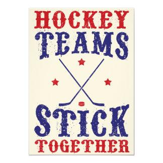 """Palillo de los equipos de hockey junto invitación 5"""" x 7"""""""