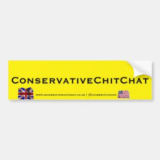 Palillo de parachoques 2 de ConservativeChitChat Pegatina Para Auto