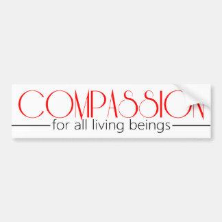 Palillo del parachoque de la compasión etiqueta de parachoque