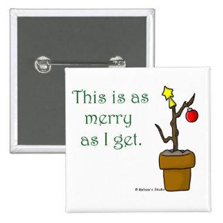 Palillo en navidad de un pote pin cuadrado