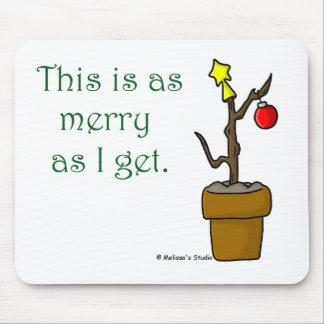 Palillo en navidad de un pote tapetes de ratón