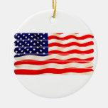 Palillo Folkart del Popsicle de la bandera america Ornamento De Navidad