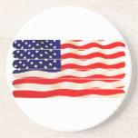 Palillo Folkart del Popsicle de la bandera america Posavasos Para Bebidas