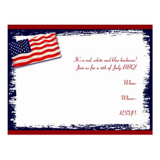 Palillo Folkart del Popsicle de la bandera america Tarjetas Postales