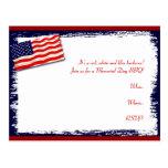 Palillo Folkart del Popsicle de la bandera america Postales