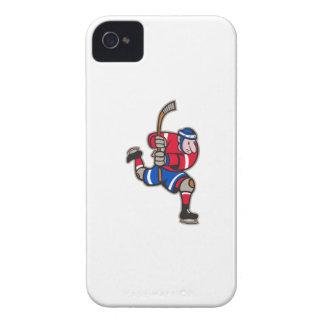 Palillo llamativo del jugador del hockey sobre hie iPhone 4 Case-Mate protector
