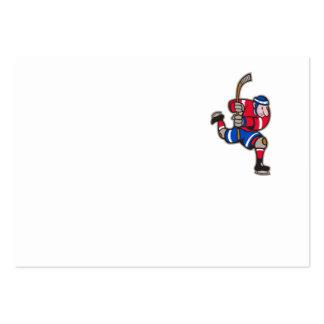 Palillo llamativo del jugador del hockey sobre hie plantilla de tarjeta personal