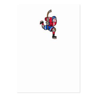 Palillo llamativo del jugador del hockey sobre hie plantillas de tarjetas de visita