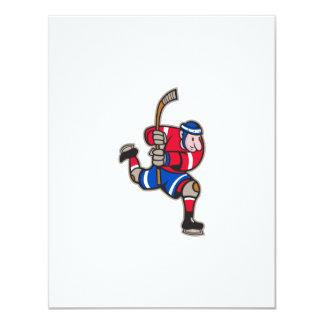 Palillo llamativo del jugador del hockey sobre anuncios personalizados