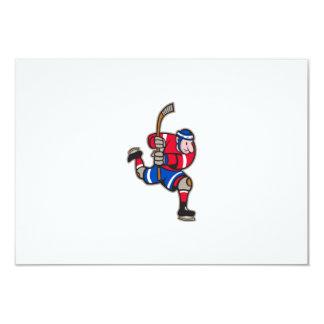 Palillo llamativo del jugador del hockey sobre invitacion personal