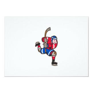 Palillo llamativo del jugador del hockey sobre comunicado personal