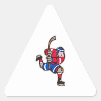 Palillo llamativo del jugador del hockey sobre calcomanía de triangulo personalizadas