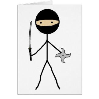 Palillo Ninja Tarjeta De Felicitación