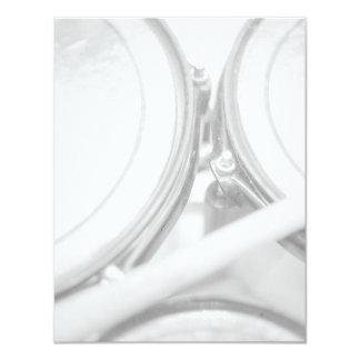 Palillo Toms de la nuez del estirón de los bordes Invitación 10,8 X 13,9 Cm