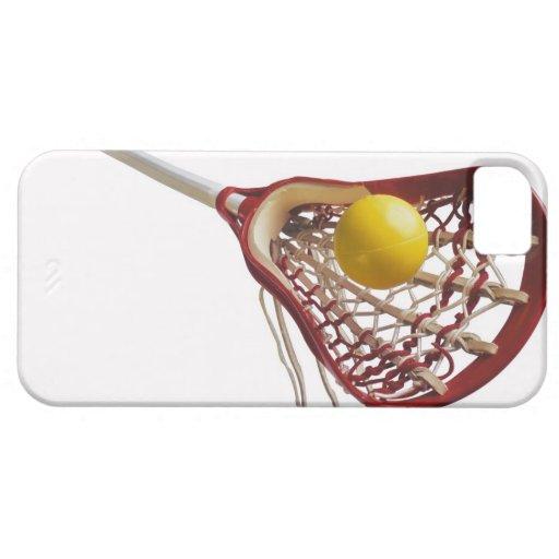 Palillo y bola de LaCrosse iPhone 5 Carcasas