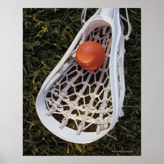 Palillo y bola de LaCrosse Posters