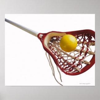 Palillo y bola de LaCrosse Póster
