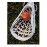 Palillo y bola de LaCrosse Tarjetas Postales