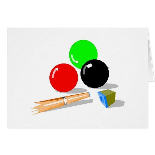 Palillo y bolas de piscina tarjeton