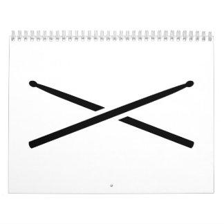 Palillos cruzados calendario