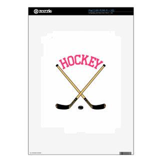 Palillos cruzados del hockey skins para iPad 2