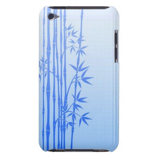 Palillos de bambú azules con las hojas iPod touch Case-Mate cobertura