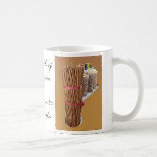 Palillos de canela taza básica blanca