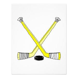 Palillos de hockey amarillos comunicado