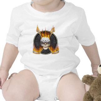 Palillos de hockey ardientes trajes de bebé