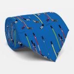 Palillos de hockey azules corbata
