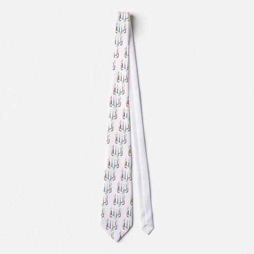 Palillos de hockey del portero corbatas personalizadas