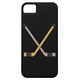 Palillos de hockey iPhone 5 cárcasa