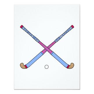 """Palillos de hockey hierba invitación 4.25"""" x 5.5"""""""