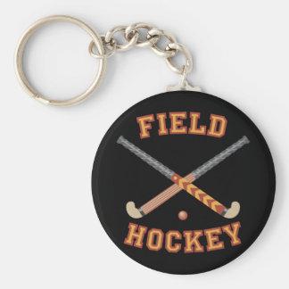 Palillos de hockey hierba llavero redondo tipo pin