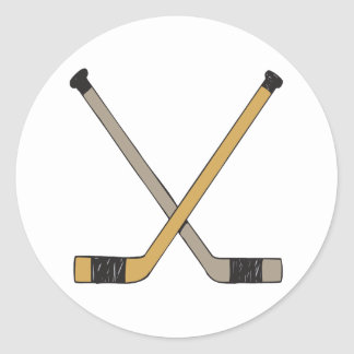 Palillos de hockey etiqueta redonda