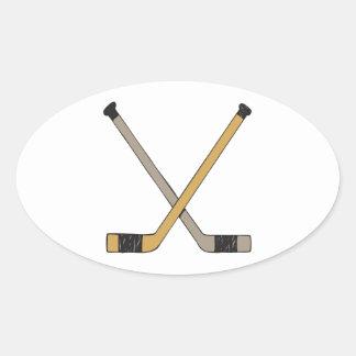 Palillos de hockey colcomanias de oval