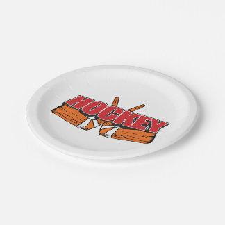 Palillos de hockey platos de papel