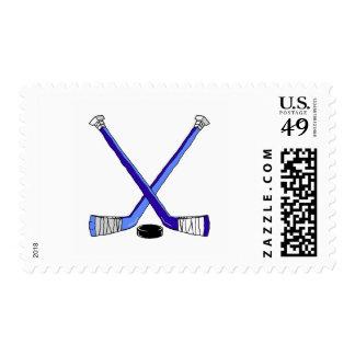 Palillos de hockey sello