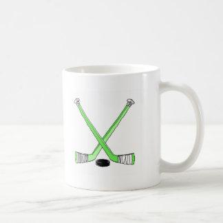 Palillos de hockey taza de café
