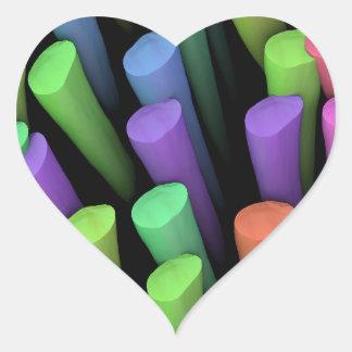 Palillos de la arcilla - pegatina en forma de corazón