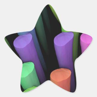 Palillos de la arcilla - pegatina en forma de estrella