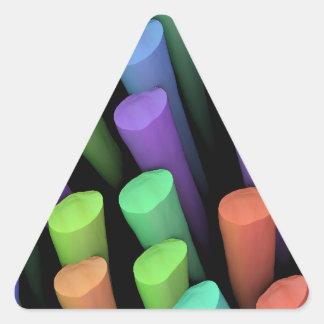 Palillos de la arcilla - pegatina triangular