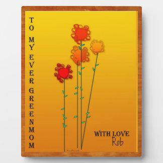 Palillos de la flor del día de madre placas de madera