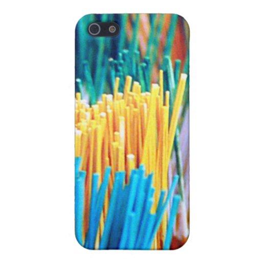 Palillos de la pintura del arco iris iPhone 5 protectores