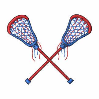Palillos de LaCrosse de los hombres Camiseta Polo Bordada