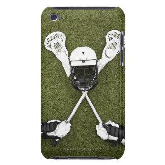 Palillos de LaCrosse, guantes, bolas y casco de Carcasa Para iPod