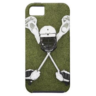 Palillos de LaCrosse, guantes, bolas y casco de Funda Para iPhone SE/5/5s