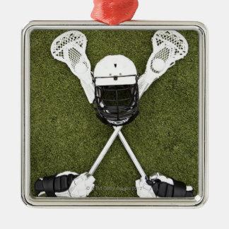 Palillos de LaCrosse, guantes, bolas y casco de lo Ornamento Para Arbol De Navidad